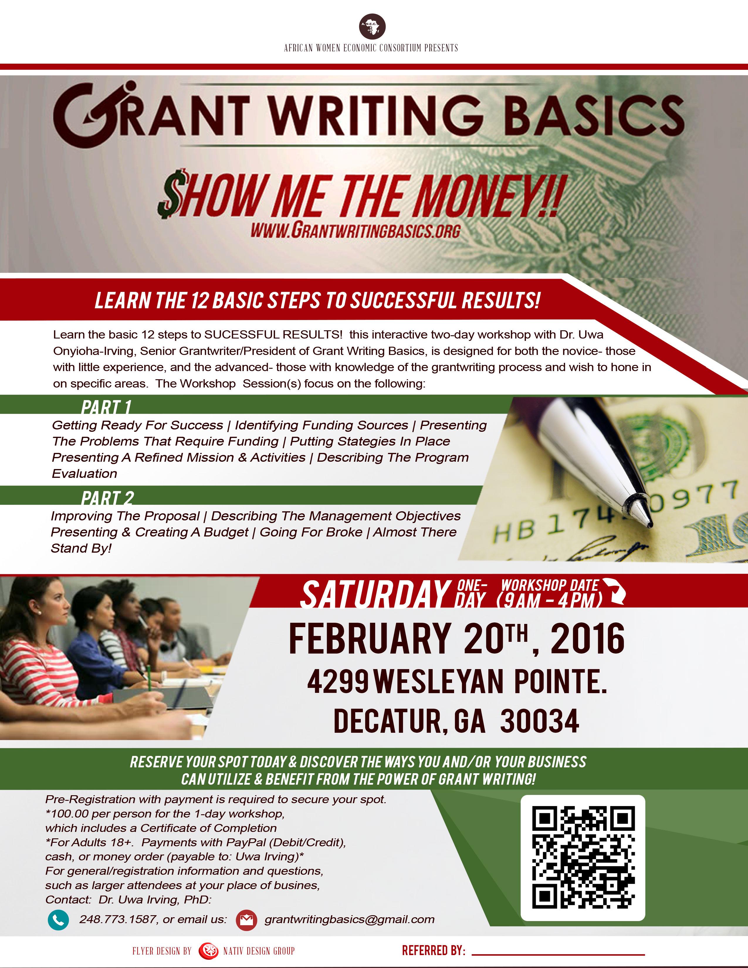 Grant writing service workshop toronto 2016